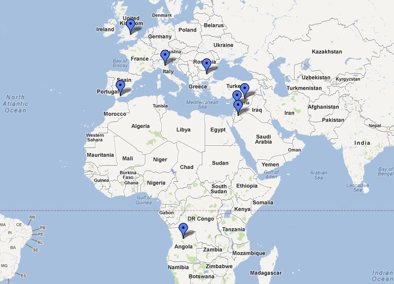 Travel Writing Map