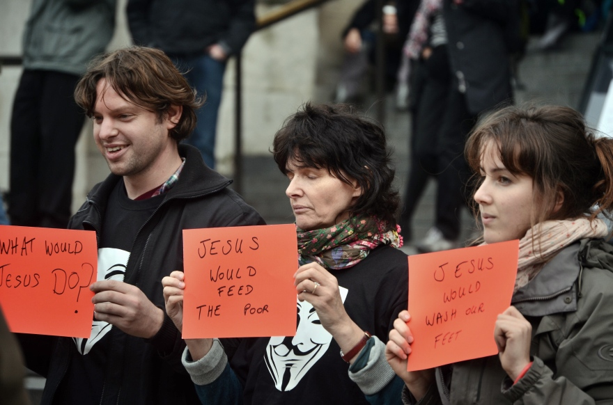 Protest at St.Paul's Cathedral